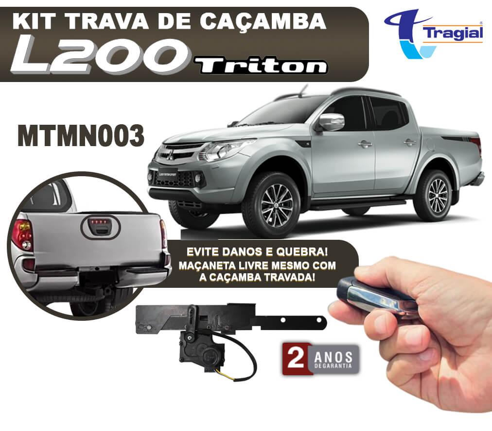 Kit Trava de Caçamba Mitsubishi L200 Triton 2011 em Diante Tragial
