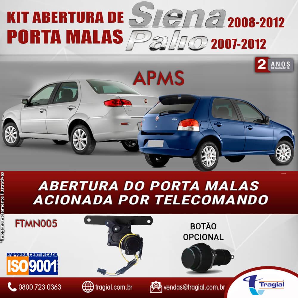 Kit Abertura de Porta Malas Fiat Siena 2008-2012 Tragial