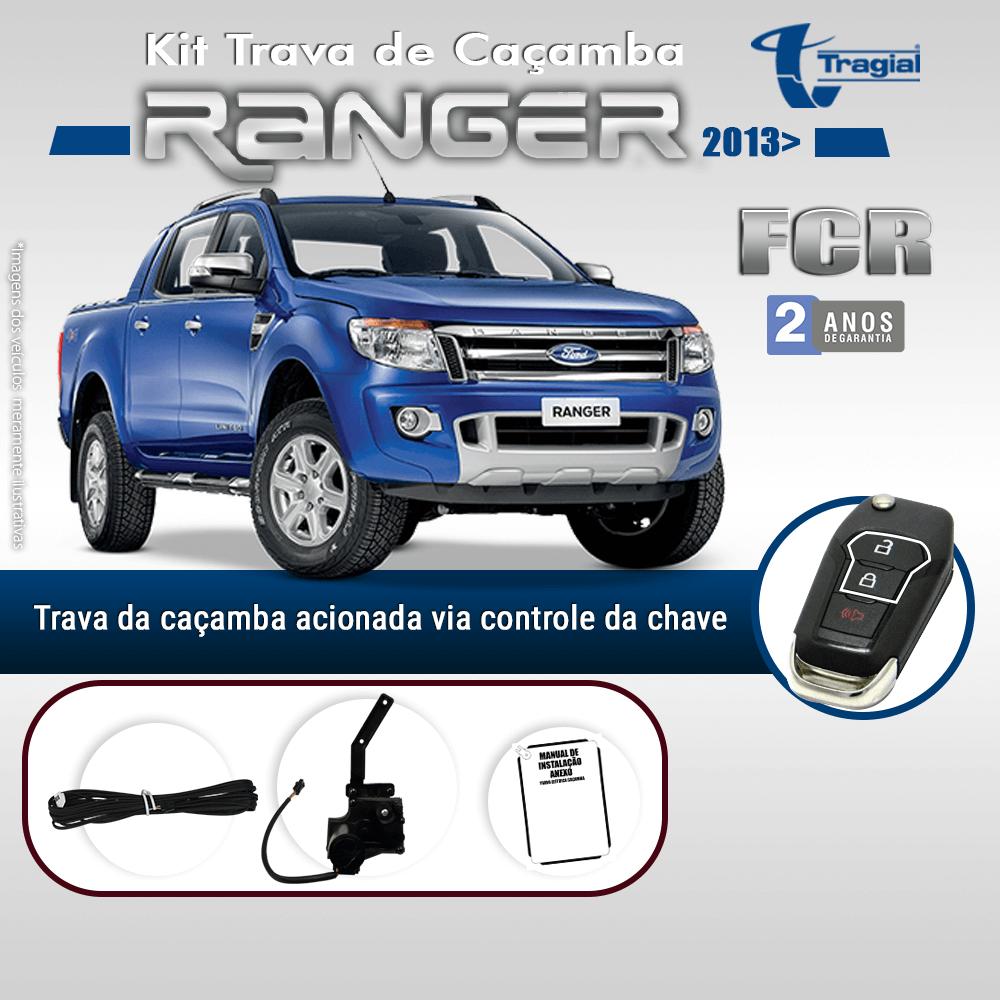 Kit Trava de Caçamba Ford Ranger 2013 em Diante Tragial
