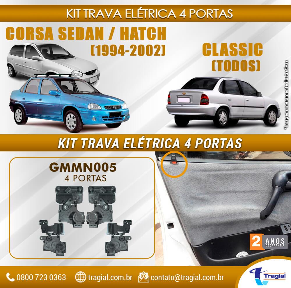 Kit Trava Elétrica GM Chevrolet Corsa 1994-2002 4 Portas Tragial