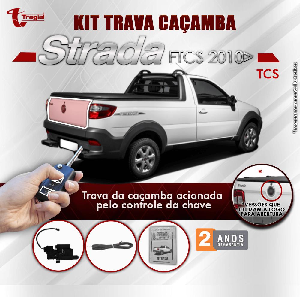 Kit Trava de Caçamba Fiat Strada Tragial