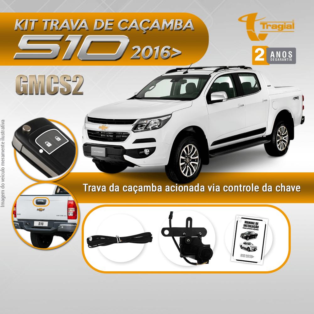 Kit Trava de Caçamba GM Chevrolet Nova S10 2016-2020 Tragial