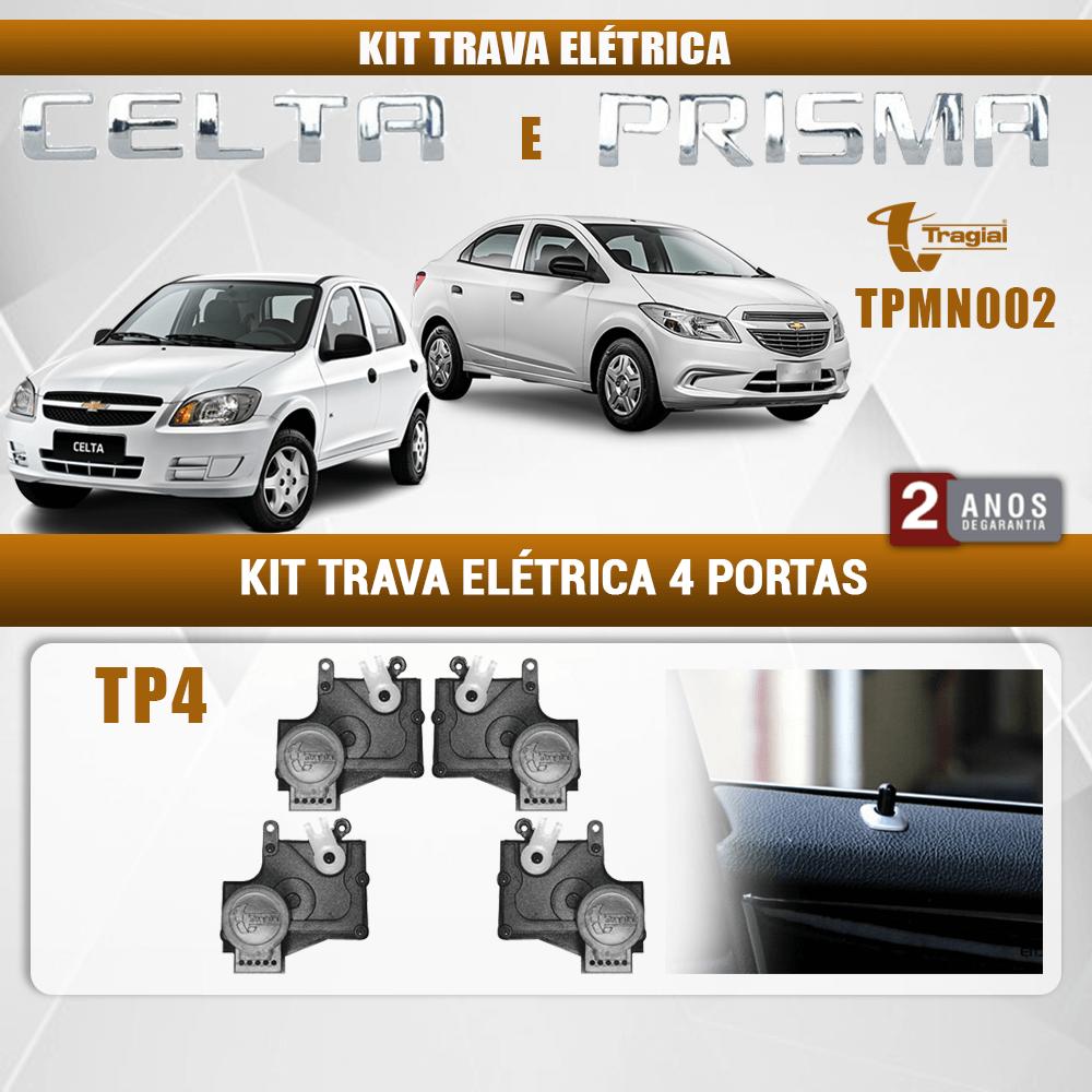 Kit Trava Elétrica GM Chevrolet Celta 4 Portas Tragial