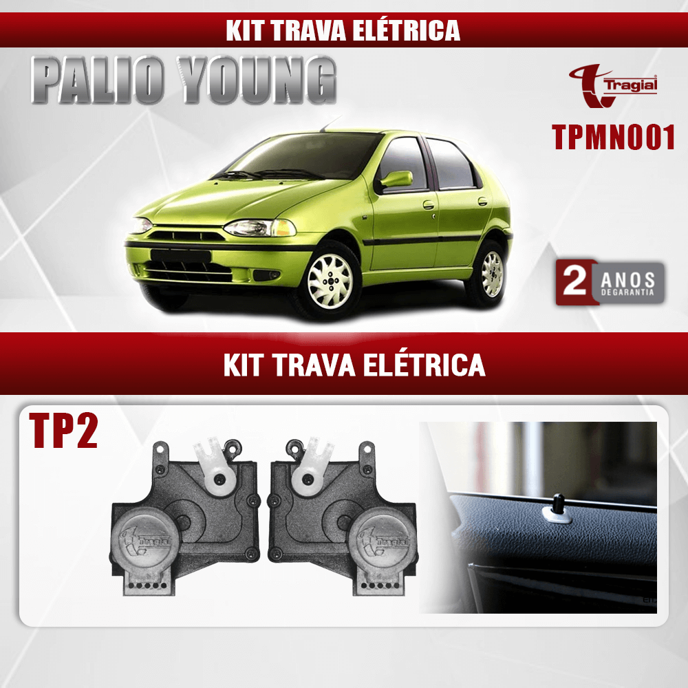 Kit Trava Elétrica Fiat Palio Young 2 Portas Tragial