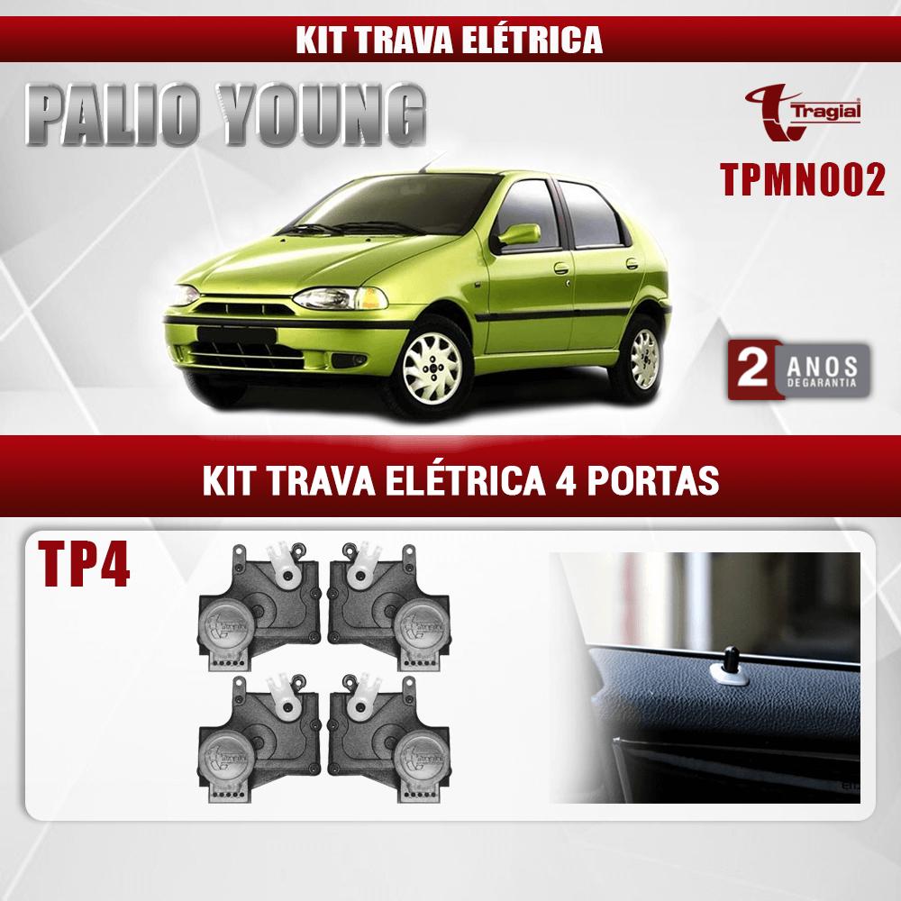 Kit Trava Elétrica Fiat Palio Young 4 Portas Tragial
