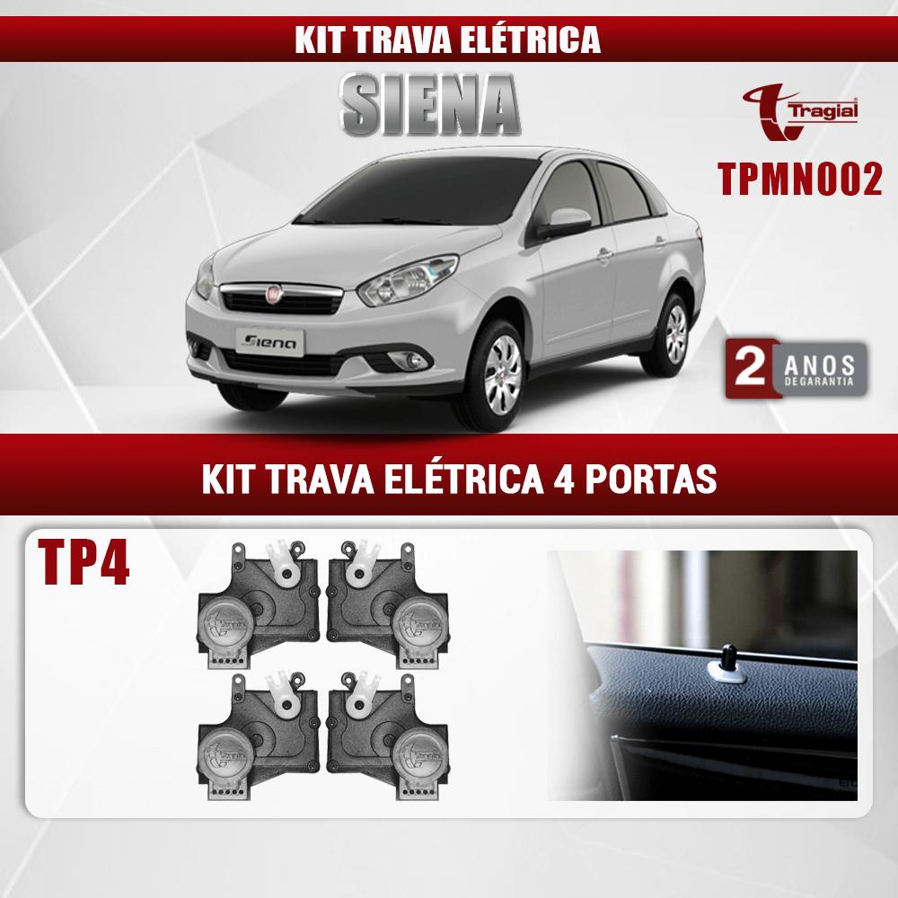Kit Trava Elétrica Fiat Siena 4 Portas Tragial
