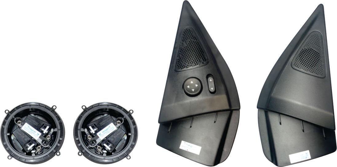 Kit Retrovisor Elétrico Sensorizado ( Tilt Down ) Fiat Siena HLX/ELX 2010> 2 Portas Tragial