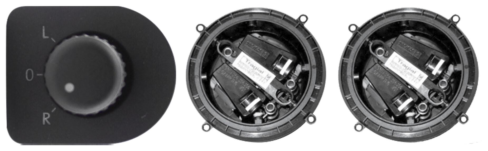 Kit Retrovisor Elétrico Sensorizado ( Tilt Down )  VW Voyage G7 4 Portas  Tragial