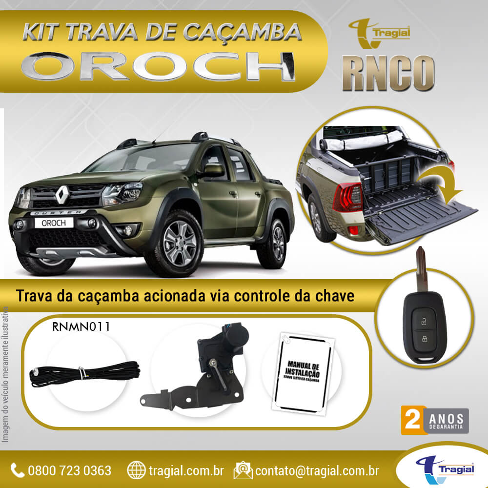 Kit Trava de Caçamba Renault Oroch Tragial