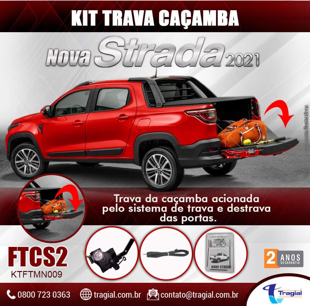 Kit Trava de Caçamba Fiat Nova Strada 2021 Tragial